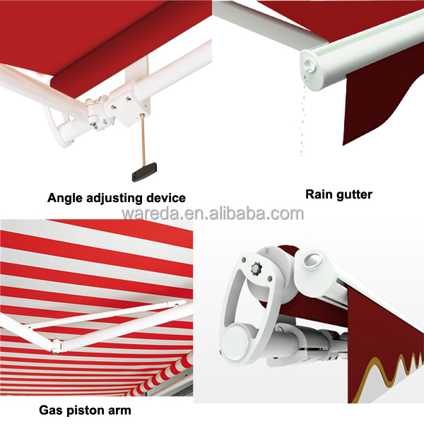 Outdoor sunshade open retractable acrylic awning