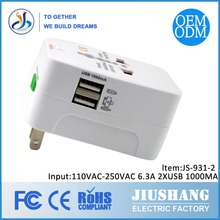 US UK USA European Plugs Travel Adaptor with USB Dongguan manufacturer Made in China