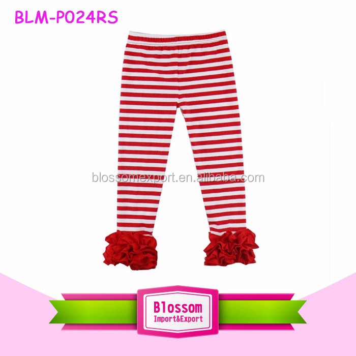 2017 Sew Sassy Red And White Polka Dots Toddler Girls Triple Ruffle Pants Wholesale Baby Icing Ruffle Pants Leggings