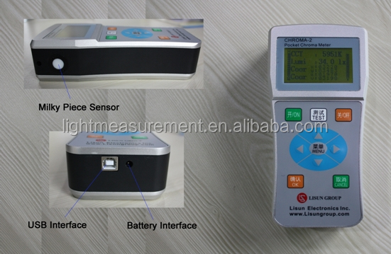 CHROMA-2 Digital color meter can do color measurement for lamps on site