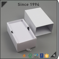 Hot selling White cardboard rigid folding paper box with sleeve