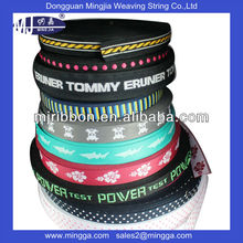 custom colorful soft polyester webbing strap