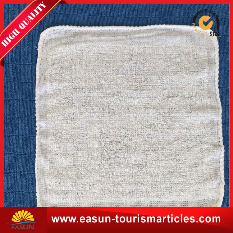 Low price disposable wet hot towels for restaurants airline towel in tray