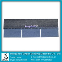 Africa Hot Sale Blue 3-tab Asphalt Roofing Shingle For Wood House