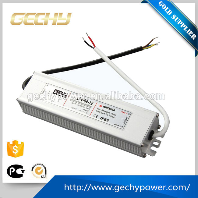 60w AC/DC 230v to 12v DC LED driver IP67 waterproof switching power supply