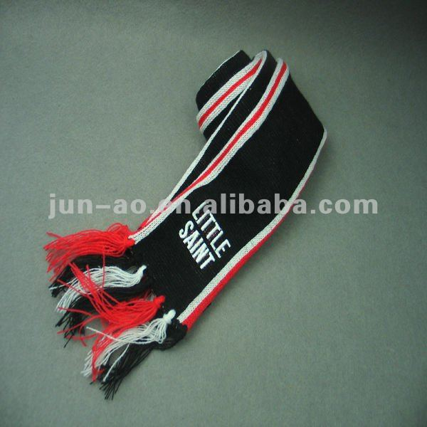 black & white striped scarf/kids hat scarf sets