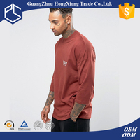 China Factory Hongxiong Latest Style 180 Grams Three Quarter Length Sleeves Round Neck Cotton Red Men Digital China Led T-Shirt