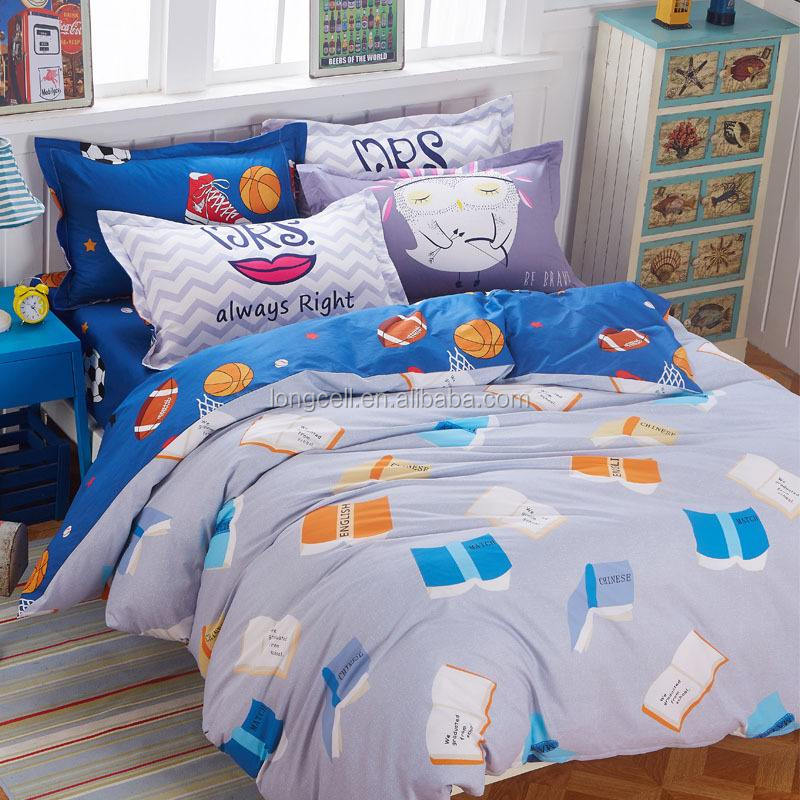 Wholesale new designs polyester microfiber filling cartoon kids patchwork quilt/duvet cover