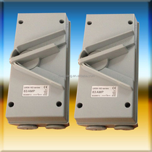 1P 63A UKW Series Weatherproof Enclosed Isolator Switch