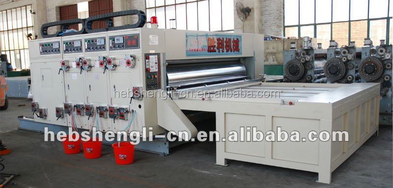 corrugated packing machine carton flexo printing and die cutting machine