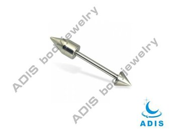 Straight Tongue Barbell,titanium piercing, body jewelry
