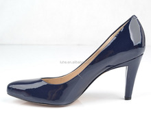 Fancy courts shoes low stiletto heel shoes woman for OL and wedding party