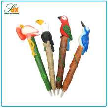 Customized fashion style business gifts various polyresin bird ball pens