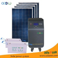 Popular self generating power system 5000W,solar electricity generating