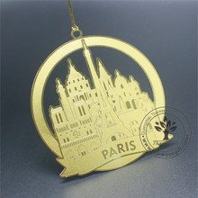 Paris metal souvenir gift custom brass ornament