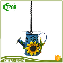 Wholesale Metal Teapot Bird House Hang Green Energy Led Flood Light Outdoor Gardeners Eden Solar Powered Garden Light