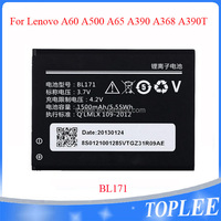 1500mAh BL171 Cell Mobile phone Battery For Lenovo A60 A500 A65 A390 A368 A390T