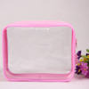 Promotional pvc plastic clear transparent make up cosmetic zipper bag