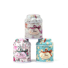 Hot Selling Tea Tin Can Round Storage Box Tin Storage Box