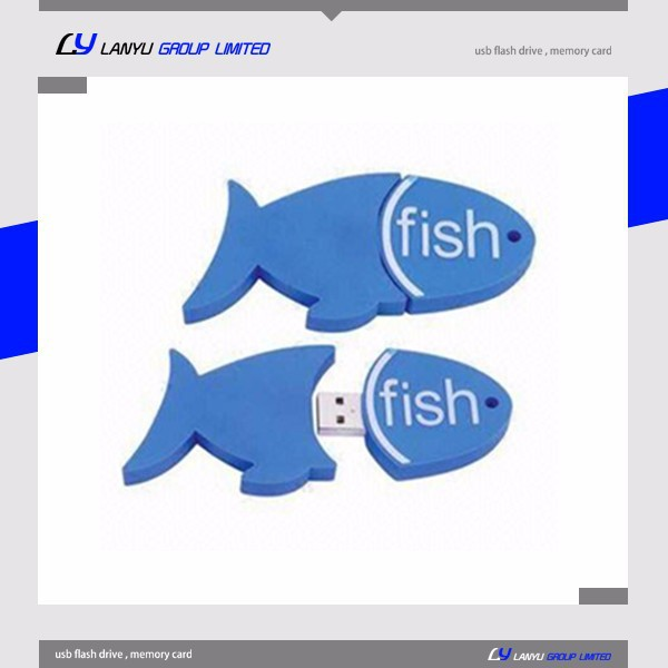 2015 fish new shape popular style 200gb usb flash drive
