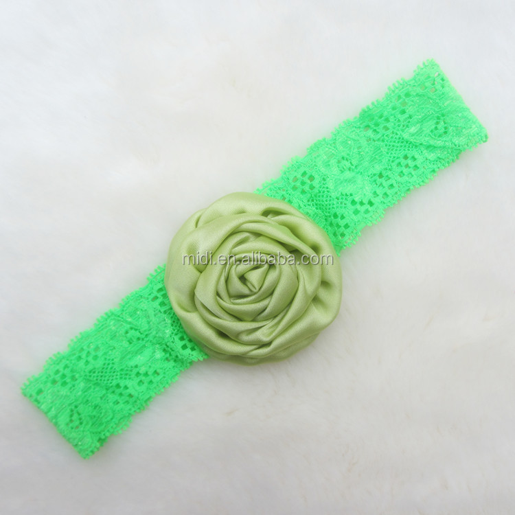 Baby Infant Lace Elastic Headband Hairband with Flower