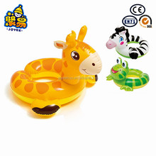 Glazed PVC inflatable floating ring adult duck swimming ring