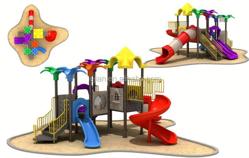 recreational Superior power top quality large playground slide equipment