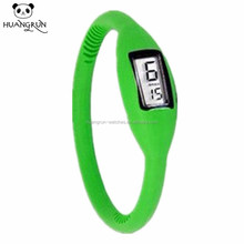 Fashion bracelet thin rubber silicone ion sport watch
