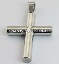 Matte finish stainless steel cross pendant