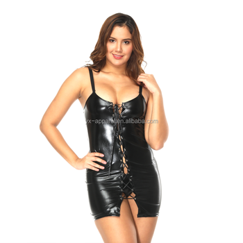 cheap exotic leather women sexy black lingerie women sexy vinyl clothing