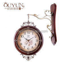 Double Sided Wood Craft Clock Large Digital Wall Clock