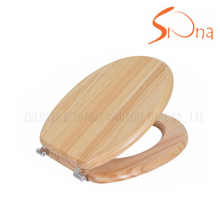 Excellent Material natural color solid wooden toilet seat cover