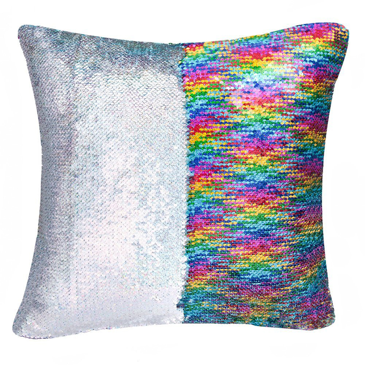 SZPLH Hot Selling Colorful Sequin Blinking Throw Pillow For Sofa As Your Request