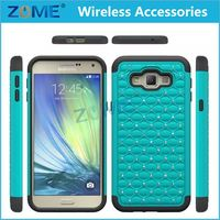 2015 New Product Heavy Duty Diamond Hybrid Pc + Silicone Bling Mobile Phone Covers Cases For Samsung Galaxy A8