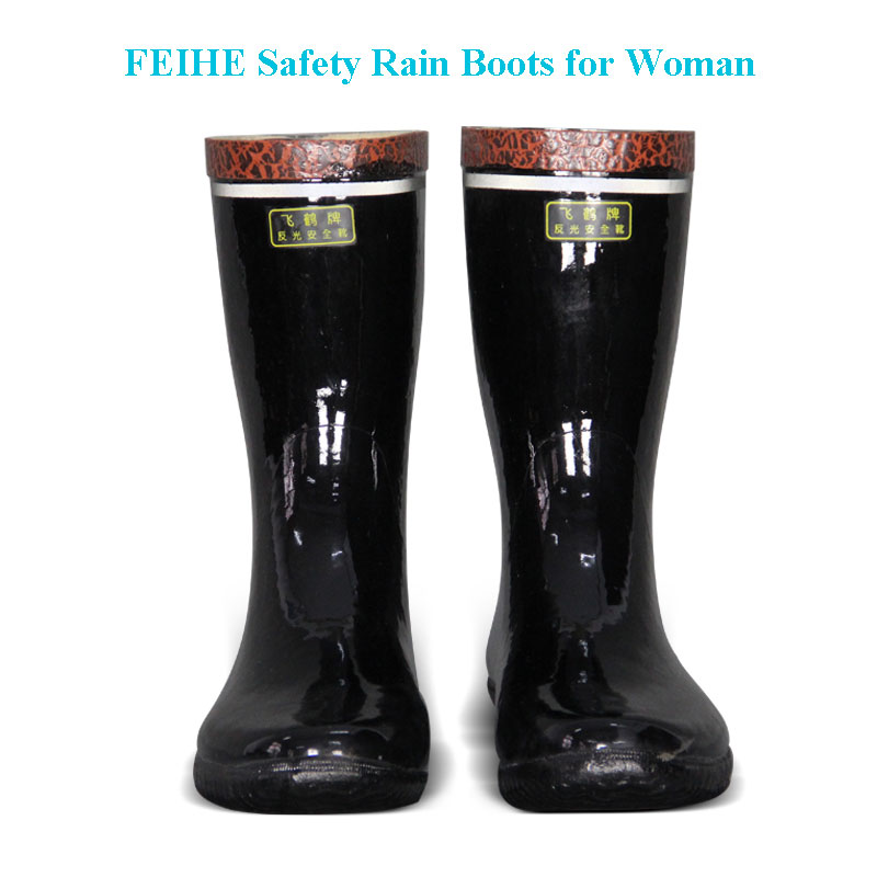 woman safety rain boots
