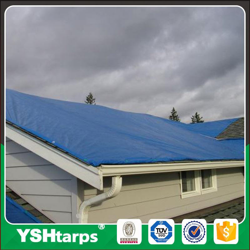 Blue Weather Water Proof Plastic Sheet Resistant Materials Truck Tarp