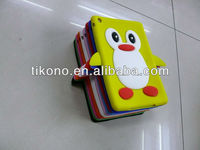 durable simple popular clear 3D penguin pattern silicone case for ipad mini