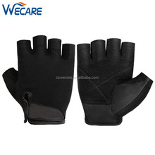 Half FInger Anti Slip Leather Palm Workout Exercise Training Fitness Outdoor Biking Cycling Sport Gloves