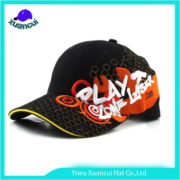 Manufacture Hexagon Printing Caps Letter Embroidery Sandwich Baseball Caps With Metal Buckle