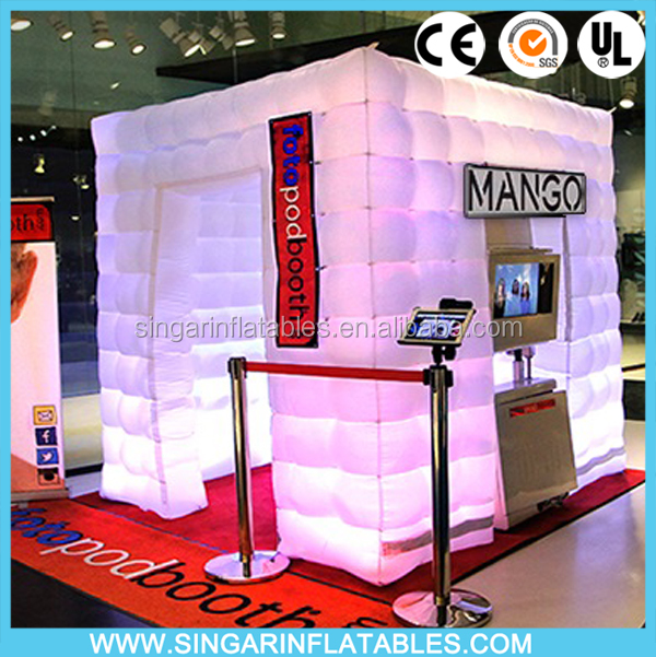 Party inflatable photo booth,inflatable led lighting photo booth