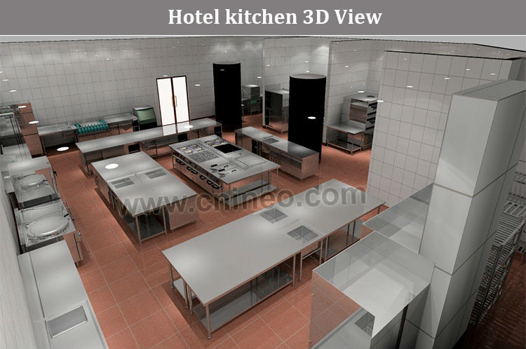 Commercial Restaurant One Bowl Deep Stainless Steel Kitchen Sink