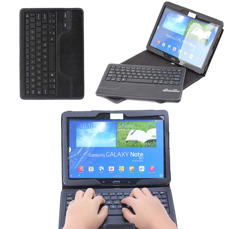 Bluetooth keyboard case for Samsung Galaxy Note P600,10.1 tablet leather case with keyboard