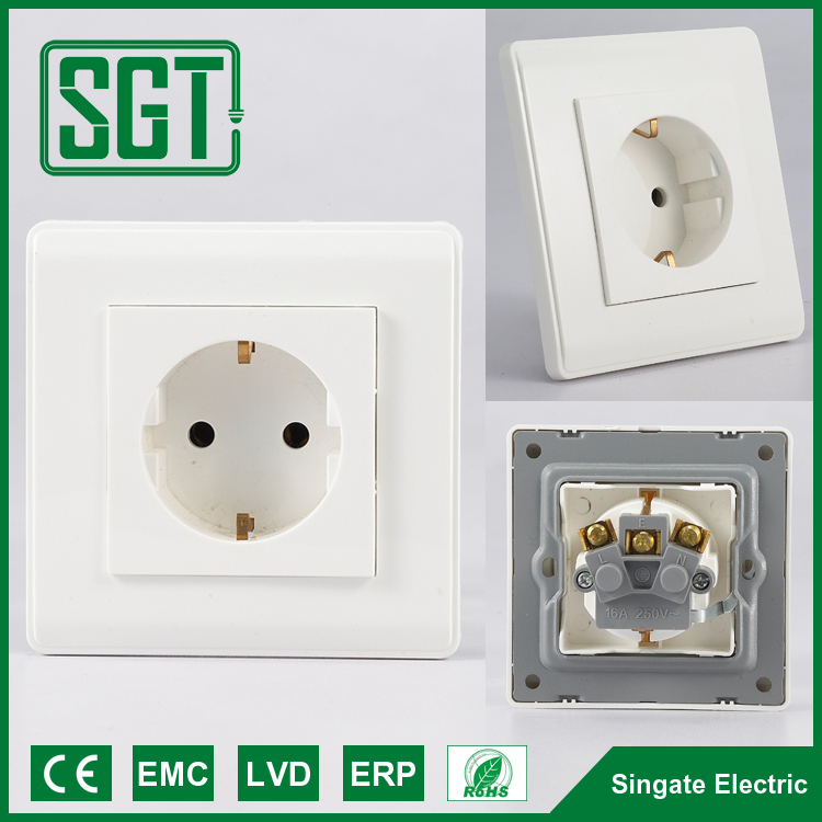 Euro socket G F electrical deep duplex EURO/EU type install wall socket