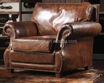 0812-5 American classic style good Quality wooden single chair and PU/ leather furniture sofa set