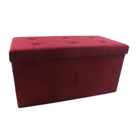 Printed Folding Ottoman Storage Box