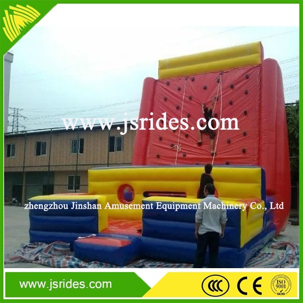 Commercial inflatable game inflatable climbing wall for sale