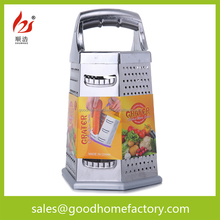 8 inch 6 sides stainless steel food and fruit Grater with ball handle