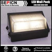 waterproof outdoor dlc 90w led wall pack, etl listed led wall light, led wall pack light DLC listed