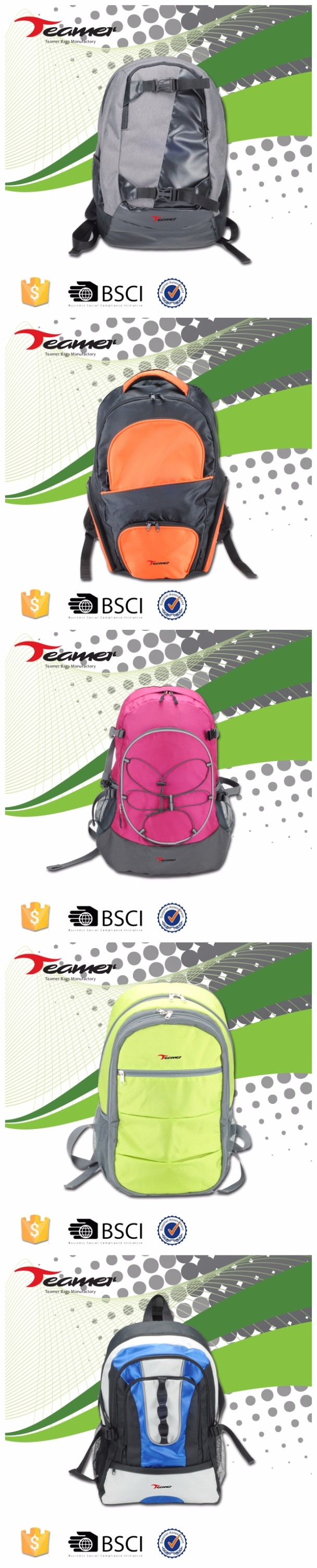 new arrivals 2017 hot new products fashion Custom backpack manufacturers china