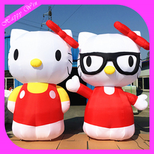 Popular giant inflatable hello kitty model,standing hello kitty cartoon model for sale